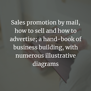 Sales promotion by mail
