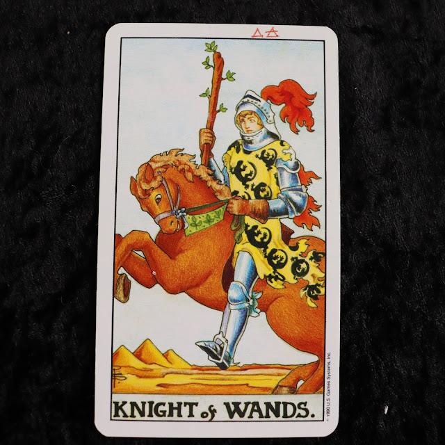 The knight of wands tarot card
