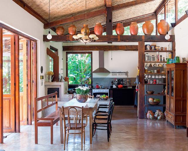 Estilos de decoração de casa com cara de sítio, casa de campo