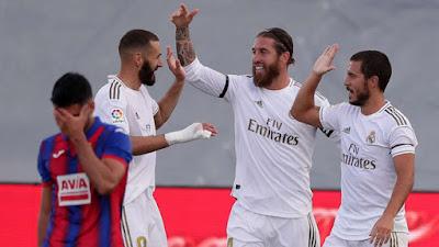 Video Real Madrid 3-1 Eibar: Phủ đầu choáng váng, rượt đuổi Barca