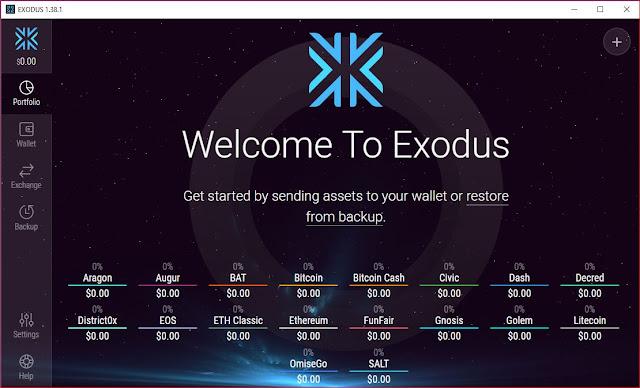 Exodus أفضل وارقى محفظة للعملات الرقمية على الاطلاق.