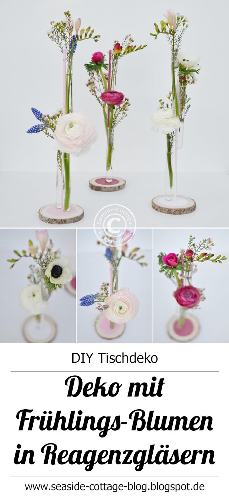 Diy Deko Mit Fruhlings Blumen In Reagenzglasern Selbermachen