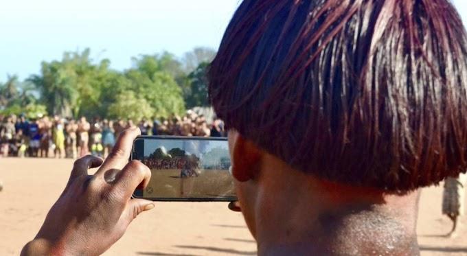 Modernidade: Índios se perdem na mata e pedem socorro por celular