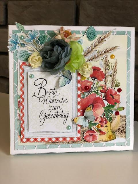 Urodzinowa Wiosenna Kartka w Pudełku po Niemiecku