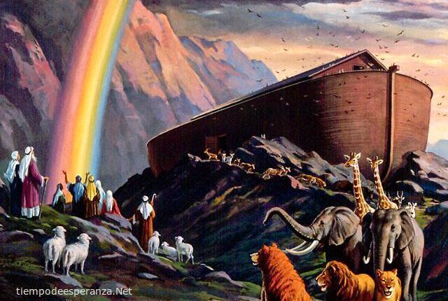 El Arca de Noé después del Diluvio, reflexión