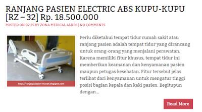 Ranjang Rumah Sakit 3 Engkol ABS Elektrik Kupu-kupu RZ-32