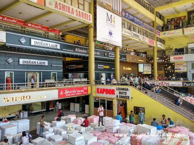 Surat bridal saris online sale millenium textile market