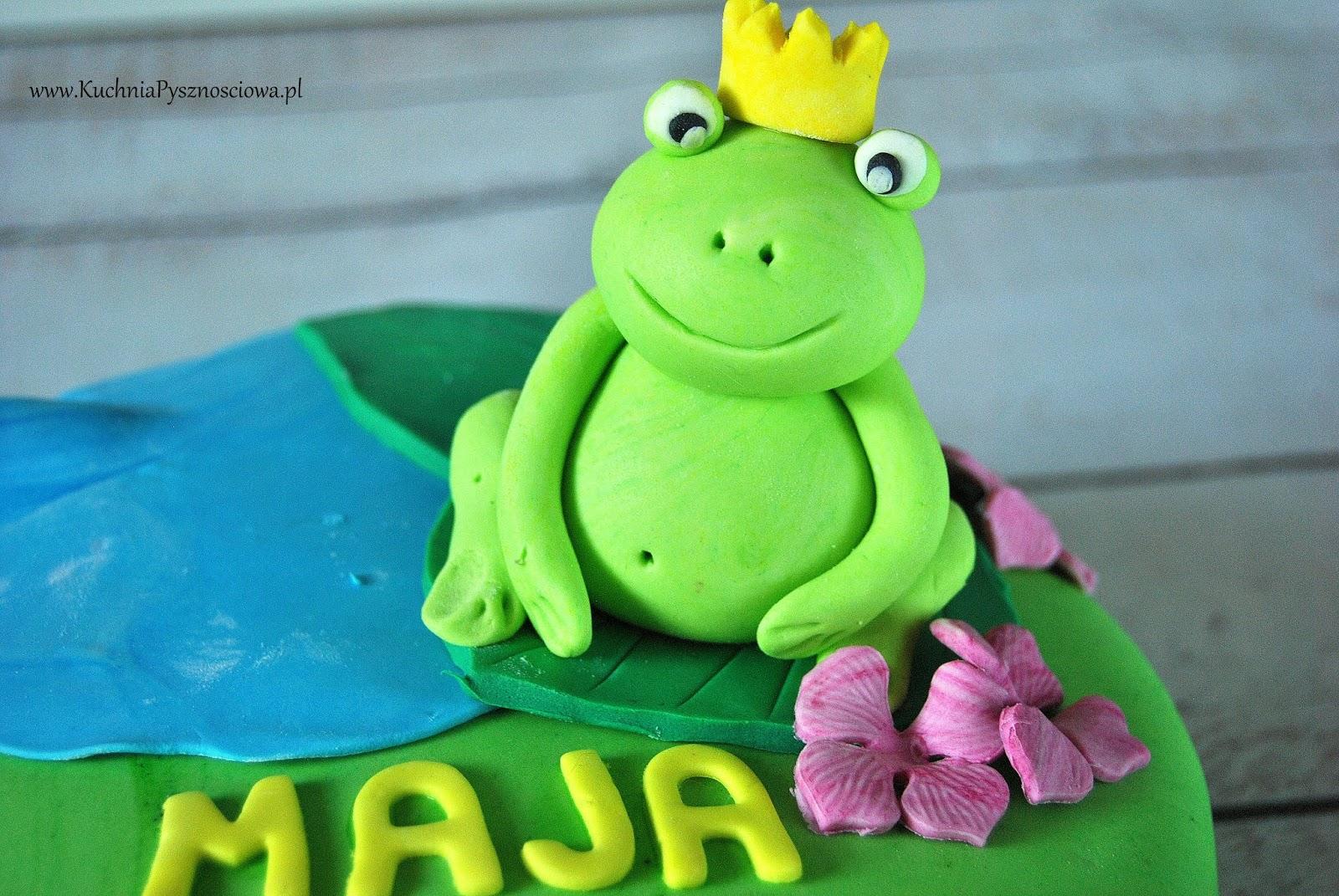 Urodzinowy tort z żabką