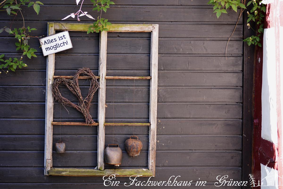 Fensterrahmen, Deko, DIY, Gartenblog