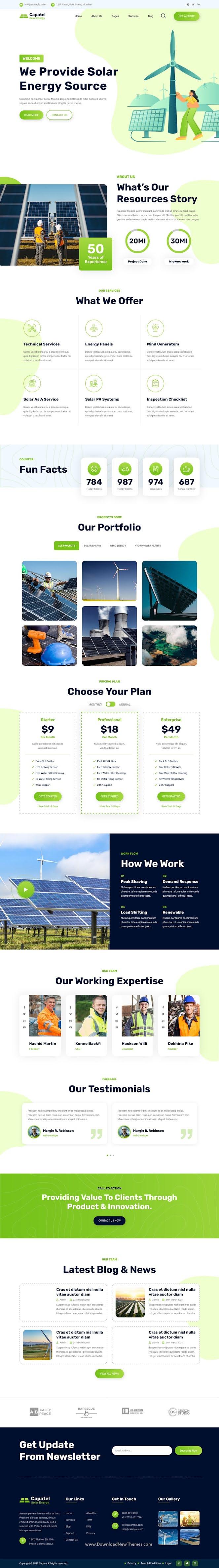 Capatel – Solar Energy HTML Template