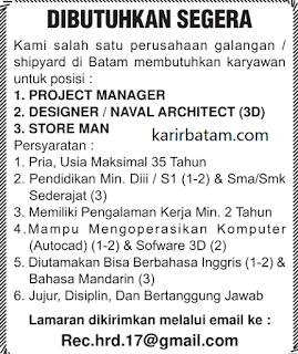 Lowongan Kerja Project Manager di Kota Batam