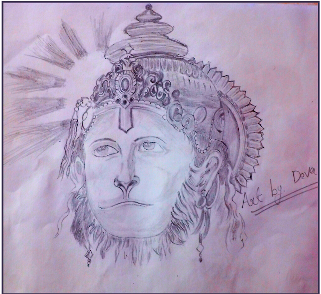 Hanumanji Drawing ( drawing of hanuman )