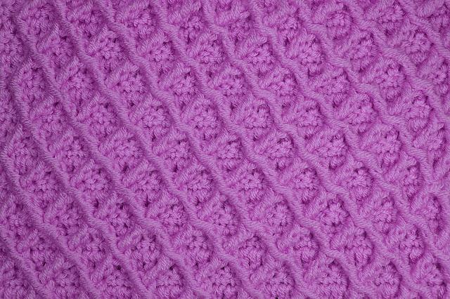 2-Crochet Imagen Puntada de rombos a crochet especial a para jarseys y cobijas por Majovel Crochet