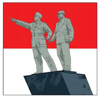 gambar patung Ir Soekarno dan dr Hatta www.simplenews.me