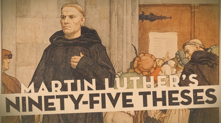 """luther 95 theses modern translation Sola scriptura: modern misconceptions of luther's intentions  the 95 theses  were written in latin, the language of academics, not of those sitting in pews and   """"introduction"""" to his translation of martin luther's 95 theses."""