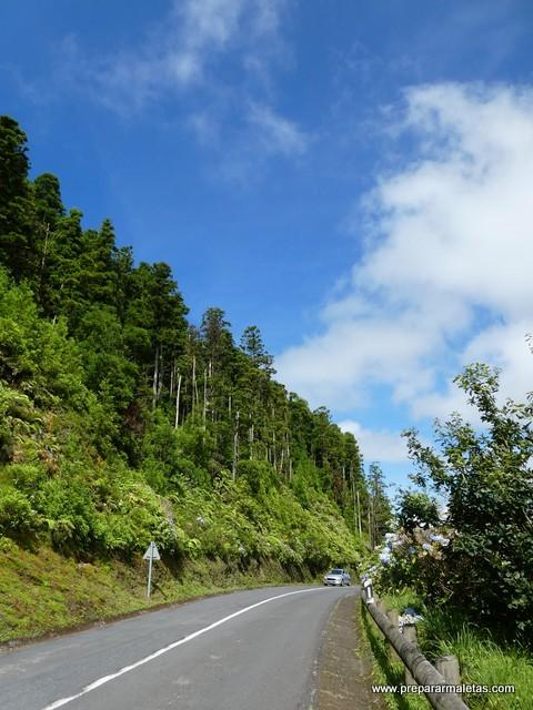 carretera Ponta Delgada a Sete Cidades