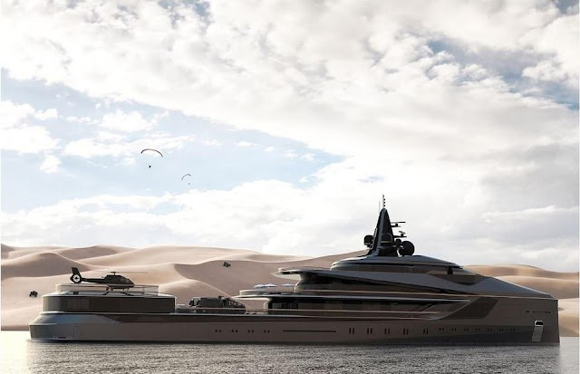 Huge superyacht has the ability to travel from the Arctic to Antarctica