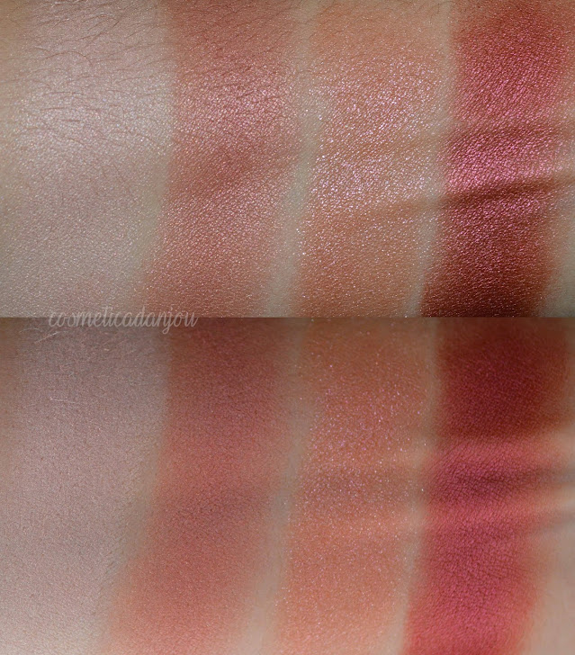 swatches Laneige Ideal Shadow Quad No.7 Rosebay Garden