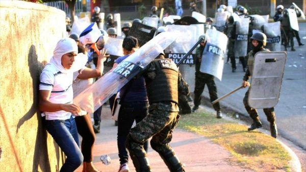 ONU Honduras denuncia violencia policial en marchas opositoras