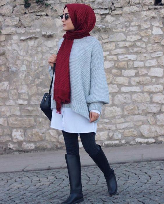 femme,portant,hijab,mode,hiver,2019