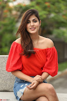 Rhea Chakraborty in Red Crop Top and Denim Shorts Spicy Pics ~  Exclusive 366.JPG
