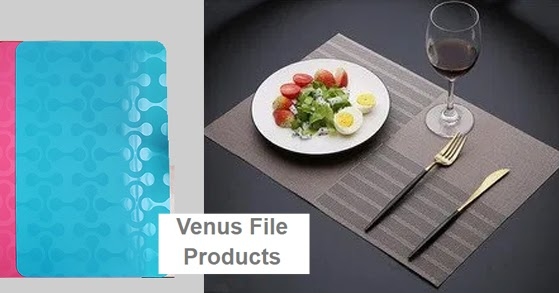 Design your simple table with the PVC table mats from our brands