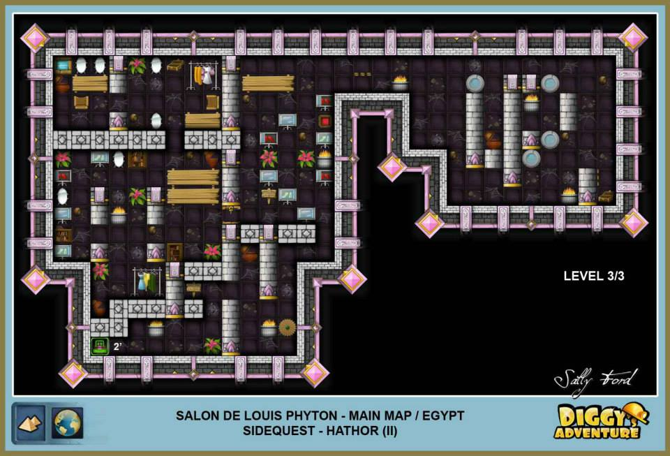 Diggy's Adventure Walkthrough: Egypt Main / Salon de Louis Phyton