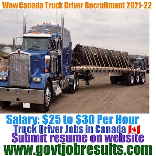 Woow Canada Truck Driver Recruitment 2021-22