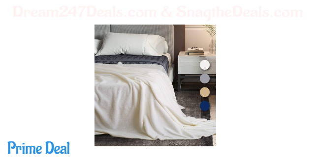 50% off  Ultra Soft Flannel Throw Blanket for Couch Sofa Bed (Twin/ Queen/ King Size)