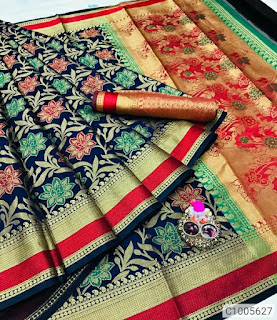 Pretty Silk Jacquard Work Sarees
