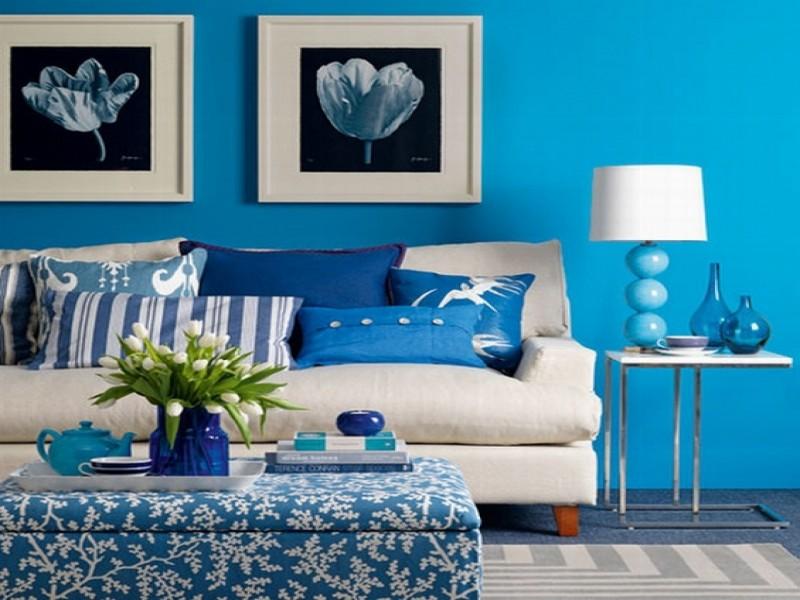 الأزرق في الأثاث وإكسسوارات المنزل 4