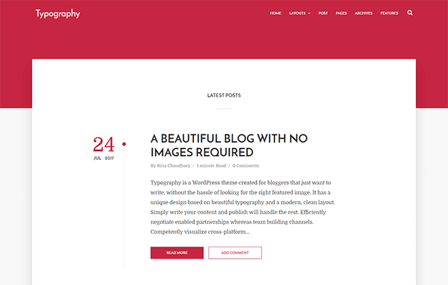 Template Blogger Responsive Typography