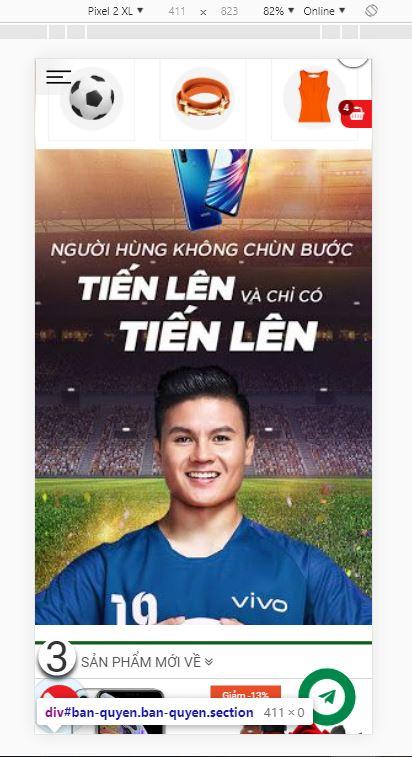 Tạo Banner quảng cáo trên Mobile theme Tinhdauonline Premium