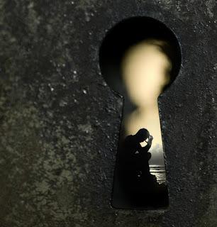Like through a keyhole...