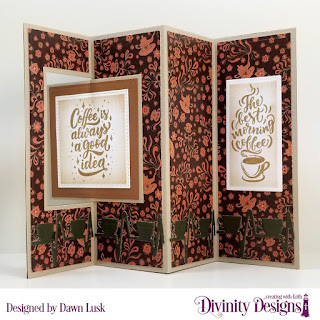 Stamp/Die Duos: But First Coffee, Custom Dies: Coffee Heartbeat, Pierced Squares, Squares, Rectangles, Lever Card with Layers  Paper Collection: Latte Love