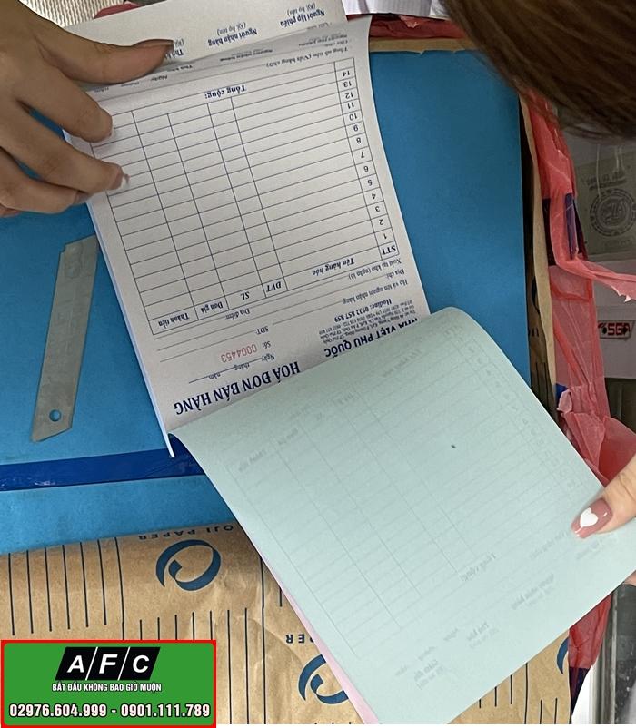 In Hóa đơn giá rẻ tại Phú Quốc