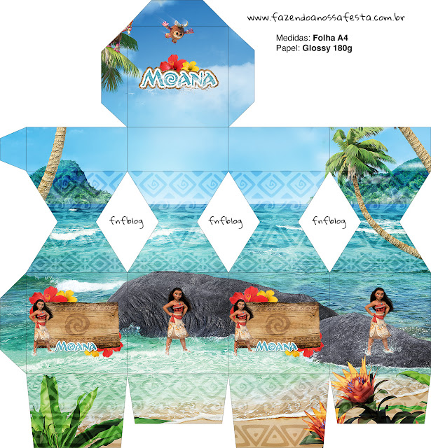 Moana Free Printable Box