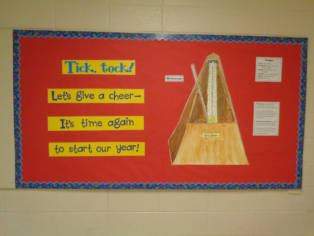 metronome beginning-of-the-year bulletin board tempo music
