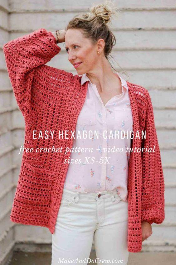 Ergahandmade Crochet Sweater Free Pattern Video Tutorial