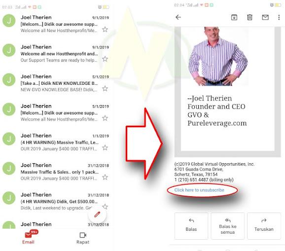 Cara Berhenti Berlangganan Pesan Email Dari Berbagai Aplikasi, Software, Iklan Dan Berbagai Pesan Email lainnya.
