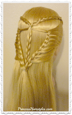 Pretty braided half up hairstyle. Video tutorial.