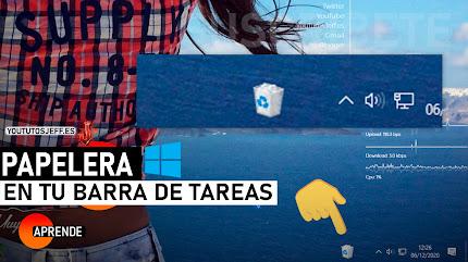Poner Papelera de Reciclaje en Barra de Tareas Windows 10