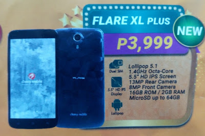 Cherry Mobile Flare XL Plus, 5.5-inch HD Octa Core 2GB RAM for Php3,999