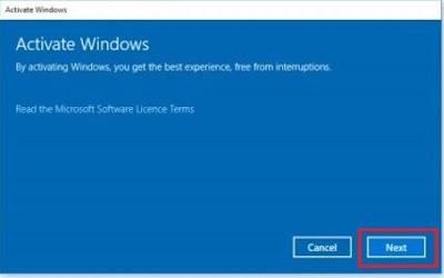 16. Notifikasi akan aktivasi Windows 10