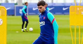 Barcelona injured star Pedri back to group training