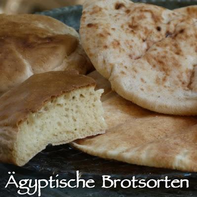 Ägyptische Brotsorten Überblick Fladenbrot Sonnenbrot