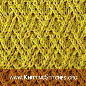 Double Lattice | Knitting Stitch Patterns. Free Knitting Pattern - Dishcloths & Washcloths
