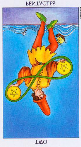 El 2 de Oros Invertido en el Tarot