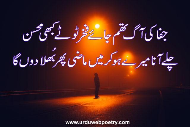 Mohsin Naqvi Sad Poetry