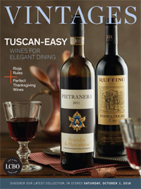 LCBO Wine Picks from October 1, 2016 VINTAGES Release